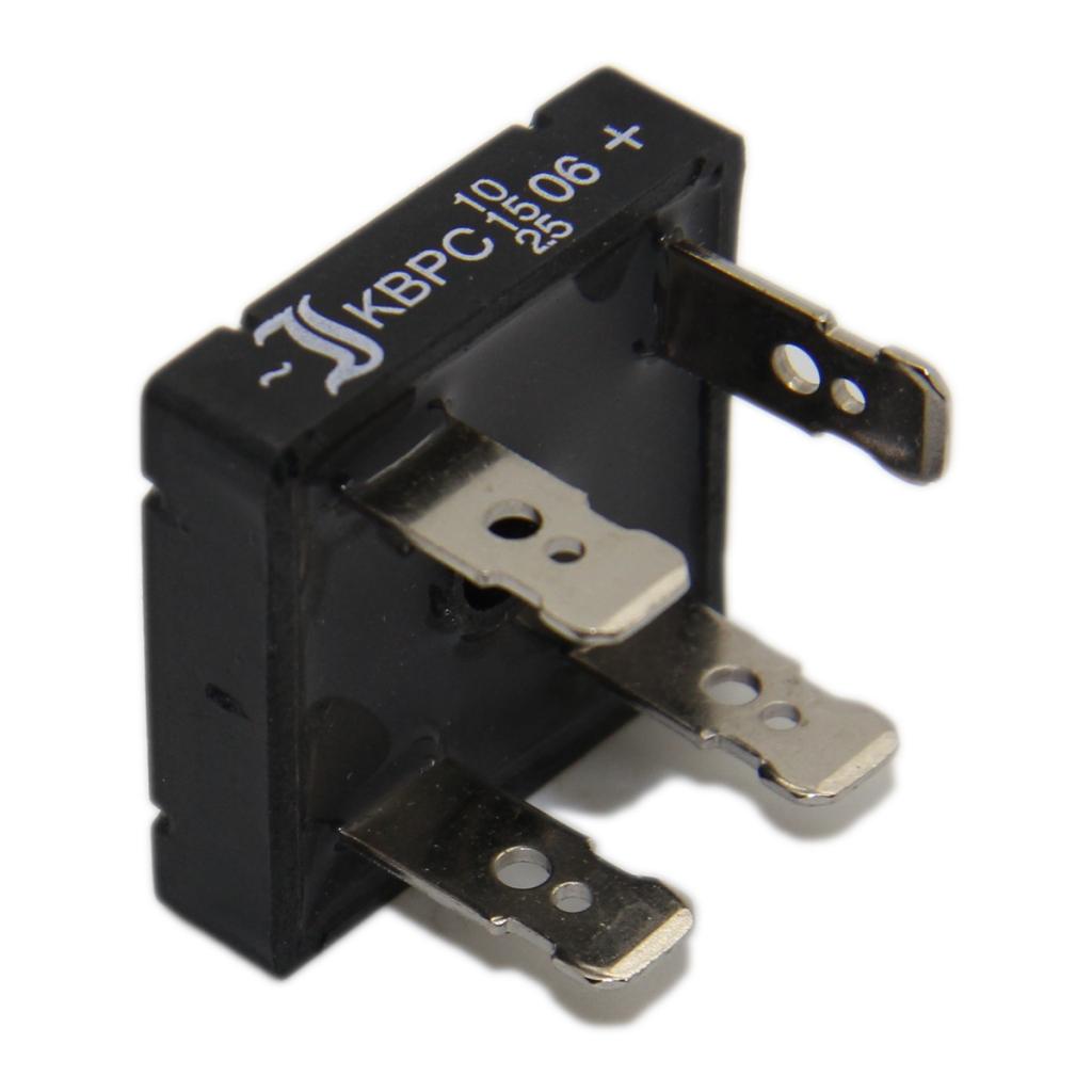 KBPC1000FP-DIO Bridge rectifier square 50V 10A 6.3x0.8mm connectors