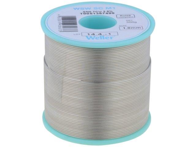 wel.sc-m1-10/05 Lot Sn99,3Cu0,7 Kabel 1mm 500 g Flux nicht sauber ...