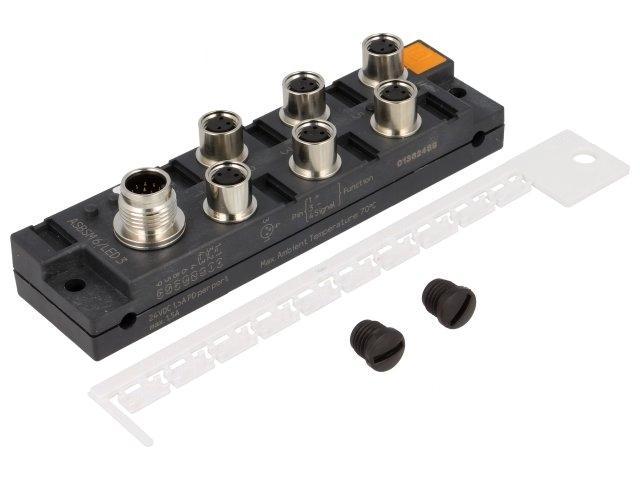 ASBSM6/LED3 Distribution box M8 PIN3 socket 1.5A with LED indicators