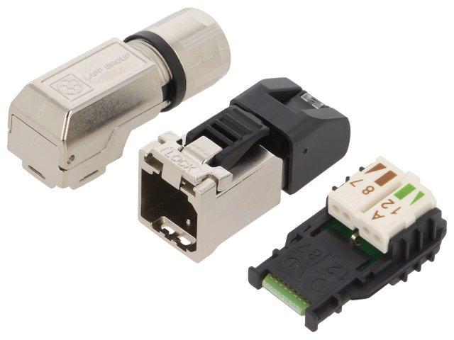 21700636 Plug RJ45 Stifte 8 Cat6A abgeschirmt Pin layout8p8c 5.5 ...