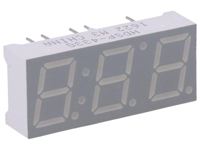 HDSP-433G Display LED 7-segment 10mm green 3.2-5mcd cathode No.char3 BROADCOM