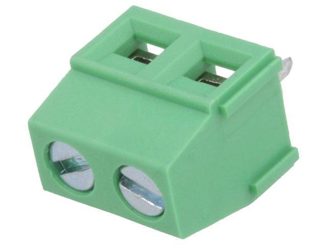 8x-DG127-5-08-02P-PCB-terminal-block-angled-90-5-08mm-ways2-on-PCBs