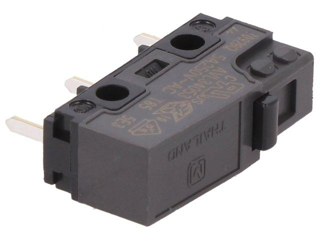 AVL34053AT Microswitch SNAP ACTION without lever SPDT 5A/250VAC ON-ON