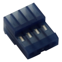 5x 3-640442-4 Connector wire-board