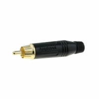 ACPR-BLK Plug RCA male straight