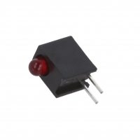 HLMP-1301-E00A2 LED in housing red