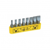 CK-4521 Set screwdriver bits 8pcs flat