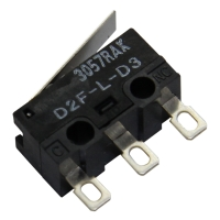 2x D2F-L-D3 Microswitch with lever