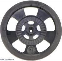 POLOLU-983 Wheel black Pcs1 screw