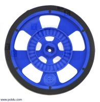 POLOLU-981 Wheel blue Pcs1 screw