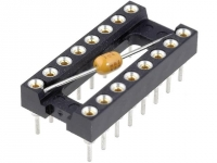 2x DIL-16C Socket DIP PIN16 7.62mm gold