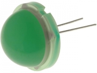 DLC2-6SGD LED 20mm green 40-75mcd