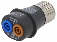 ADPTR-E27-EUR Adapter 4mm Cap E27