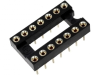 5x GOLD-14P Socket DIP PIN14
