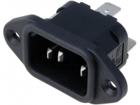 PX0580/63 Connector AC mains IEC