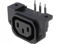 PX0675/PC Connector AC mains IEC