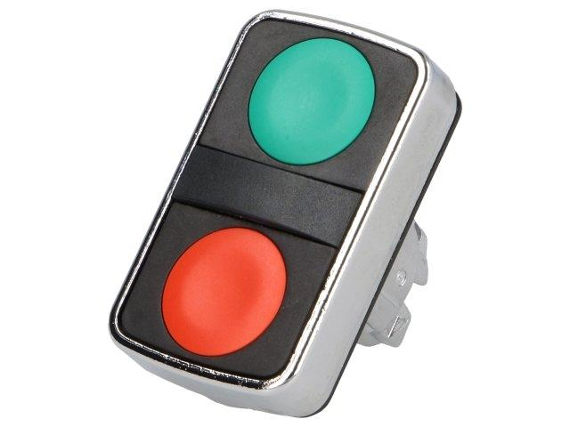 1 X ZB4BA7340 Switch: double; 1-position; 22mm; green/red; Illumin: none; IP66