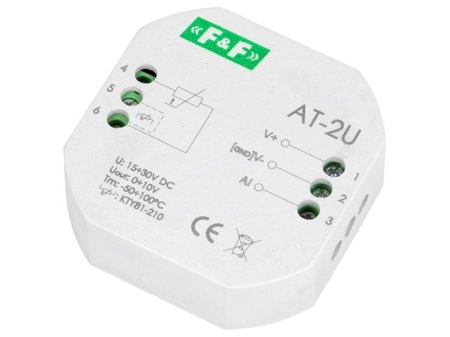 1 X AT2U Converter temperature; 9÷30VDC; Kind of outputs0÷10V; 20÷50°C